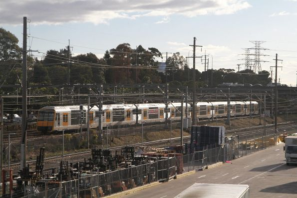 Tangara train passes Flemington station