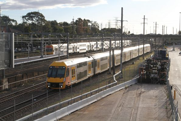 A68 traverses the goods lines at Flemington