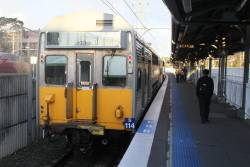 S114 on arrival at Lidcombe station with the 'Olympic Park Sprint'