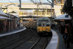 K69 arrives into Lidcombe station with a down Blacktown service