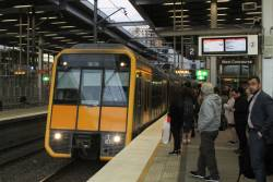 T61 arrives into Parramatta station with a down Penrith service