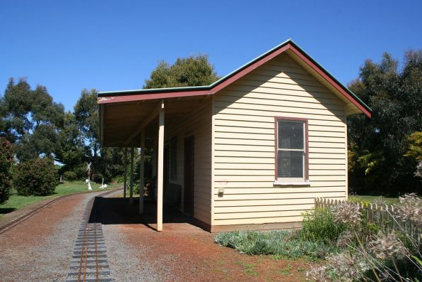 Station building preserved at the Cobden Miniature Railway