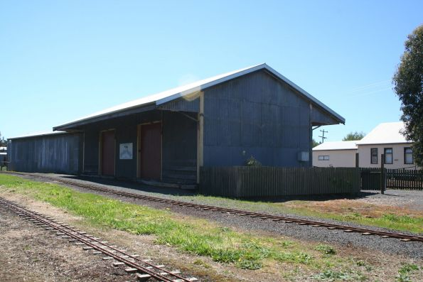 Goods shed preserved at the Cobden Miniature Railway