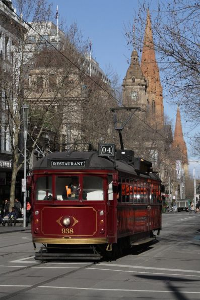 SW6.938 northbound at Swanston and Bourke Streets