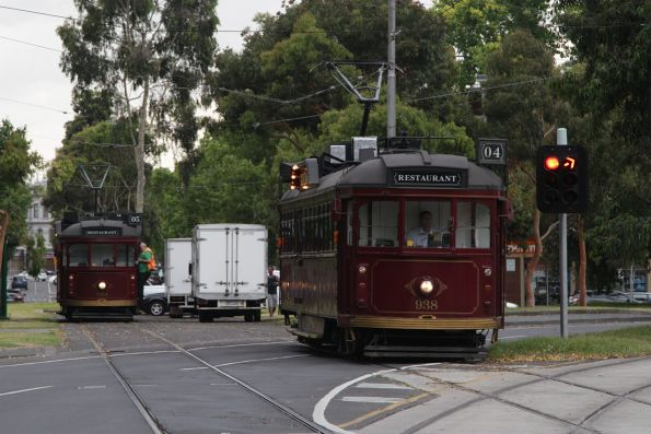 SW6.938 is the second tram to depart the Dudley Street siding