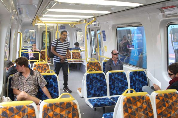 Interior of Comeng 395M following life extension refurbishment