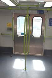 Pole added for the use of standing passengers onboard life extension Alstom Comeng 629M