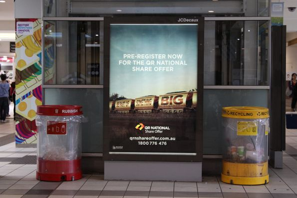 The 2nd phase of the advertising campaign for the privatisation of QR National, at Flinders Street Station