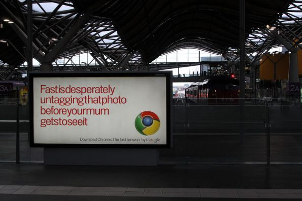 Still more Google Chrome advertising at Southern Cross Station
