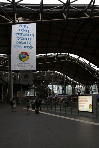 More Google Chrome advertising at Southern Cross Station