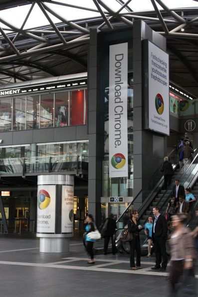 Google Chrome advertising at Southern Cross Station