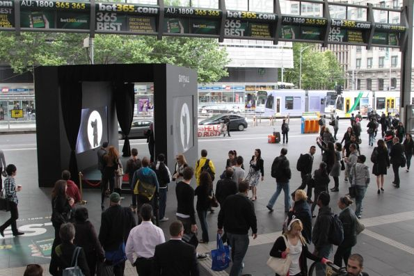 Advertising promotion for 'Skyfall' - the new James Bond film - on the Collins Street concourse