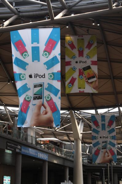 iPod advertising replaces the bookmakers at Southern Cross