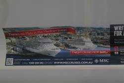 Cruise holiday advertisement - 'There's no Myki in the Mediterranean'