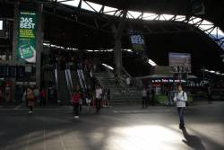 With spring racing season upon us, 'Bet365' advertising covers Southern Cross Station