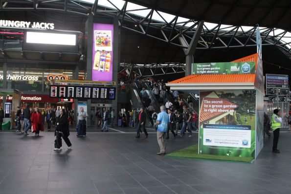 Victorian Government 'use the Right Water' promotion on the main concourse