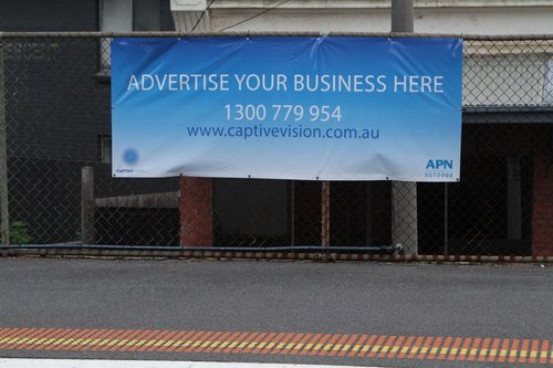 APN Outdoor and Captive Vision spruiking for new advertising clients at suburban railway stations