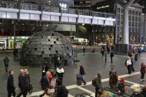 'Headspace' promotion on the Collins Street concourse at Southern Cross