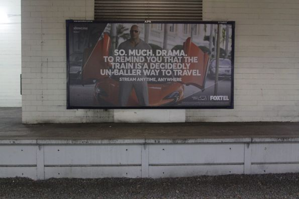 'So much drama to remind you that the train is a decidedly un-baller way to travel' advertisement for Foxte