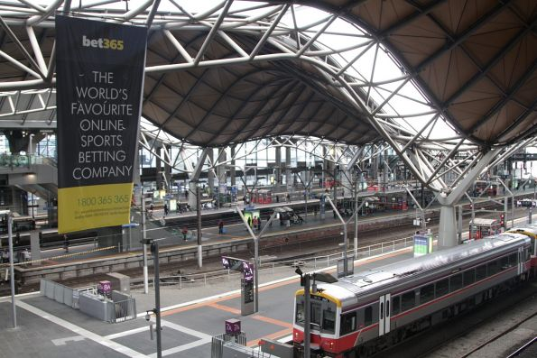 Bet365 advertising covers Southern Cross Station