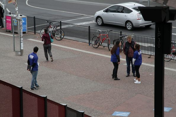 Chuggers representing 'Plan International' outside Footscray station