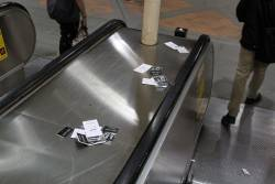 Unwanted discount vouchers for 'The Iconic' litter Flagstaff station