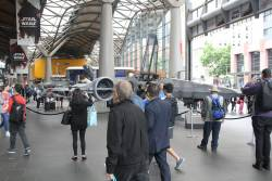 Full scale X-Wing Fighter on display at Southern Cross Station to promote the new Star Wars movie