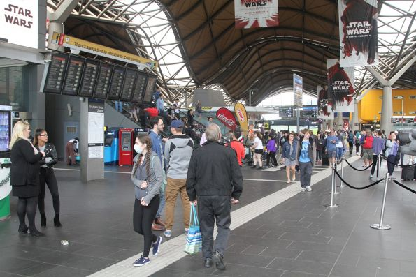 Star Wars promotion blocks the main entrance to Southern Cross Station
