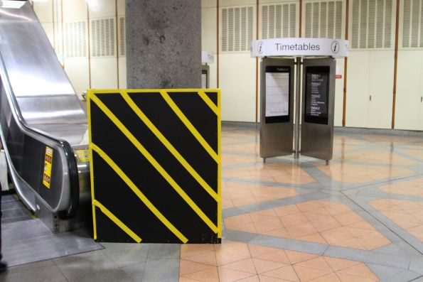 'Bumblebee box' marks the site of a new Adshel digital billboard at Flagstaff station