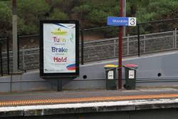 PTV advertising on a JCDecaux billboard at Moorabbin station