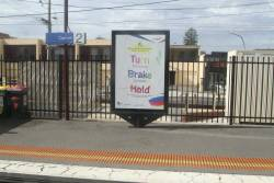 PTV advertising on a JCDecaux billboard at Carrum station