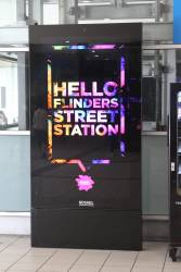 New Adshel adverting panels installed at Flinders Street Station
