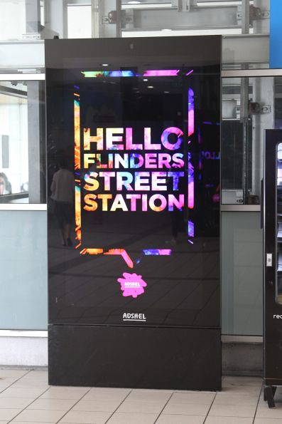 New Adshel advertising panels installed at Flinders Street Station