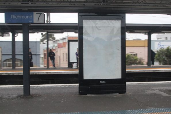 New AdShel advertising panels at Richmond station