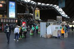 'five:am' yoghurt promotion on the main concourse at Southern Cross Station