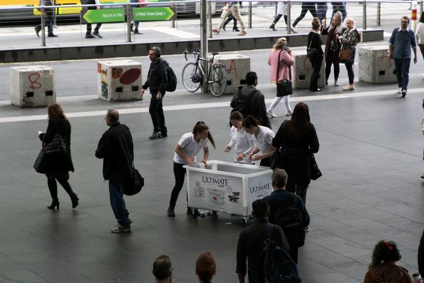 Danone yogurt promotion at Southern Cross Station