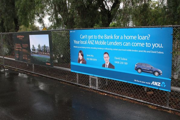 Two different flavours of real estate advertising at Seddon station