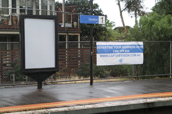 Empty spaces looking for advertisers at Seddon station