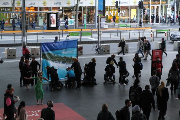 Flight Centre promotion for Cook Islands flights at Southern Cross Station