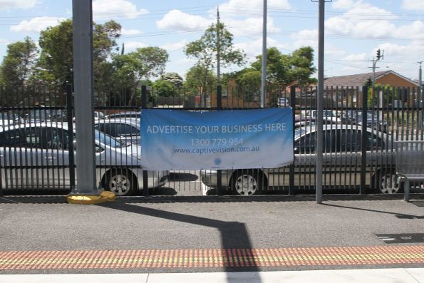 'Advertise your business here' poster at Thomastown station