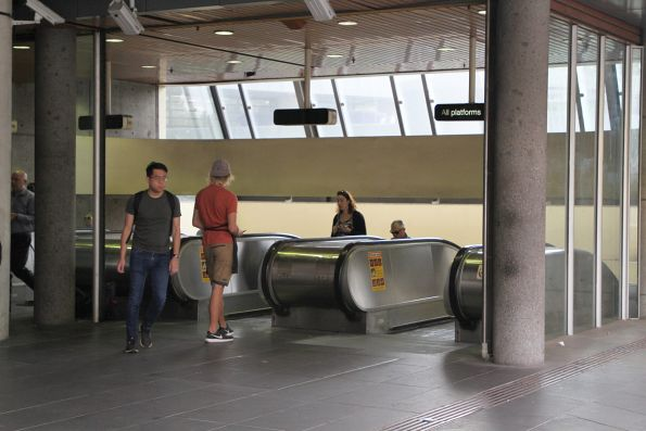 Handing out vouchers for Marley Spoon during morning peak at Flagstaff station