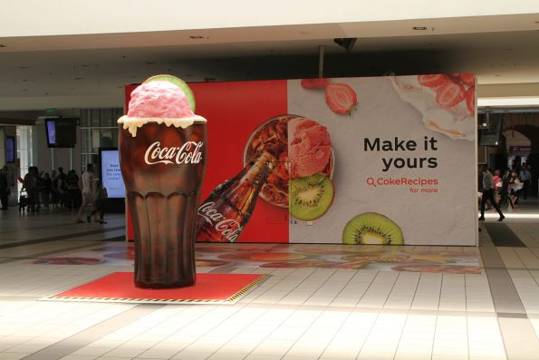 Coca Cola advertisement on the main concourse at Flinders Street Station