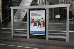 'My Health Record' advertisement on a CBD tram stop