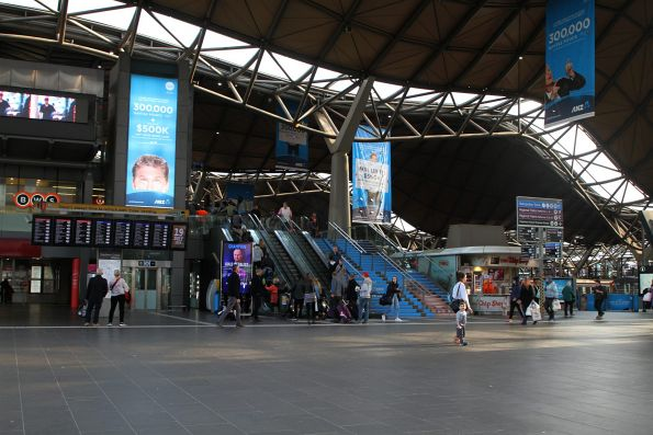 ANZ Home Loan advertising covers Southern Cross Station