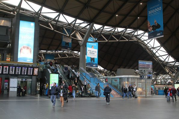 ANZ home loans advertising covers Southern Cross Station