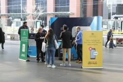 ATO 'Pop Up Shop Front' at the main entrance of Southern Cross Station