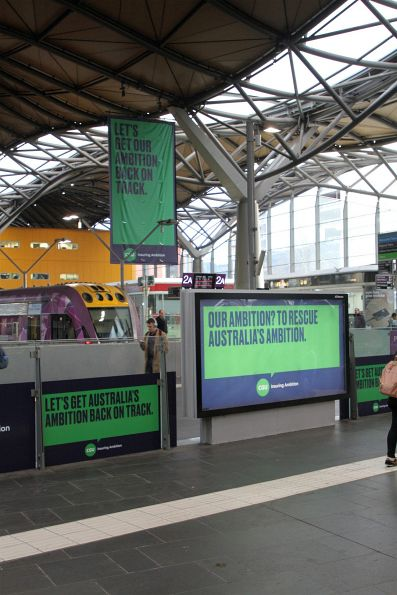 CGU Insurance advertising has taken over Southern Cross Station