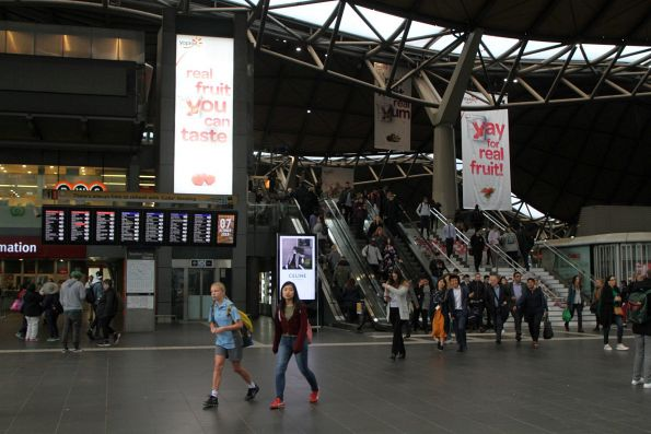 Yoplait advertising covers Southern Cross Station