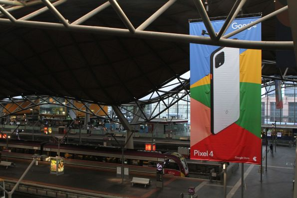 Google Pixel 4 advertising at Southern Cross Station