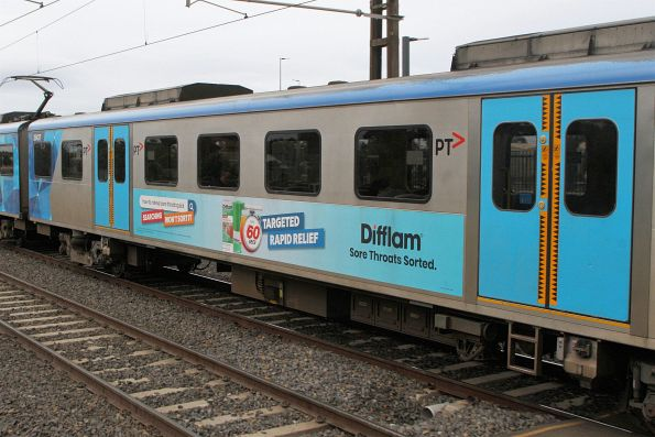 Difflam advertisement on the side of Siemens 2543T